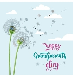 Happy grandparents day card vector