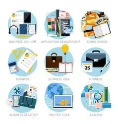 Icons set banners for business vector