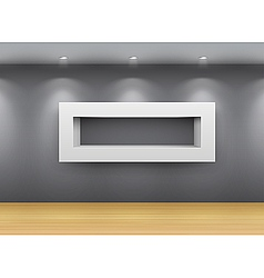 interior gallery shelf vector image