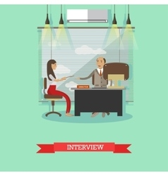 Job interview concept in flat vector