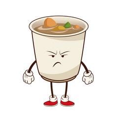 kawaii soup ramen angry japanese food image vector image vector image