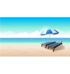 Landscape beach background vector