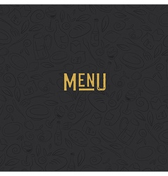 Menu design template restaurant seamless pattern vector