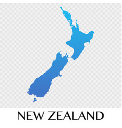 New zealand map in asia continent design vector