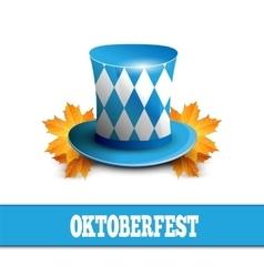 Oktoberfest celebration design with bavarian hat vector