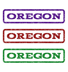 Oregon watermark stamp vector