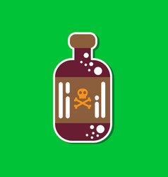 Paper sticker on stylish background potion in vector