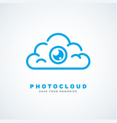 Photo cloud vector