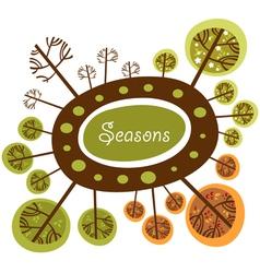 Seasons of the year funny logo vector