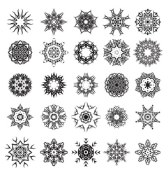 Set of different tribal rosette tattoo design vector