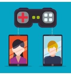 Smartphone sharing games online controller vector