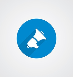 speaker Flat Blue Simple Icon vector image