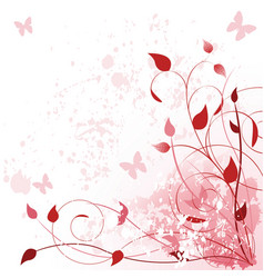 spring in pink vector image