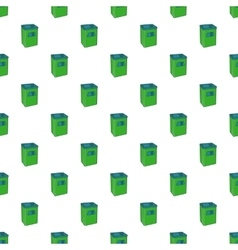 Street dustbin pattern cartoon style vector