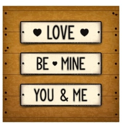 Three creative valentines vector