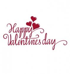 Valentine calligraphy vector