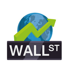 Wall street new york international money vector