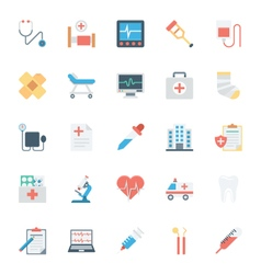 Medical and health colored icons 1 vector