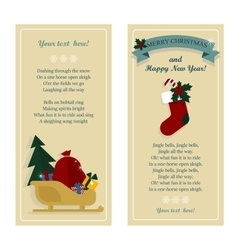 Merry christmas banners with santa sledge vector