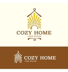 Logo cozy home on light and dark color vector
