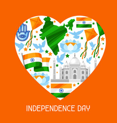 India independence day greeting card celebration vector