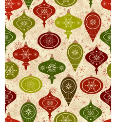 Seamless pattern with christmas balls vector