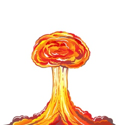 Nuclear explosion vector image