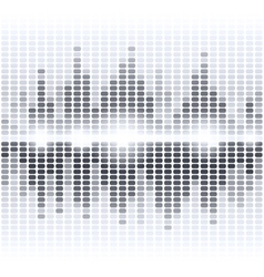 Shining grey digital equalizer on white background vector