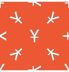 Orange yen pattern vector