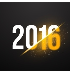 New year 2016 background with explosion effect vector