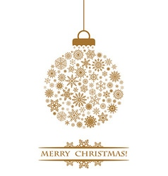 Christmas ball gold vector image
