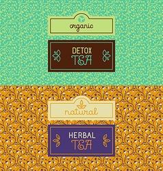 Herbal and detox tea packaging vector