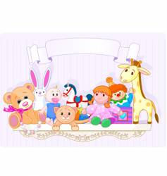 the toy shelf vector image