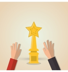 Winner and trophy design vector