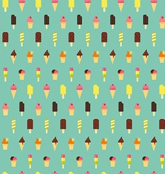 Ice cream pattern seamless background vector