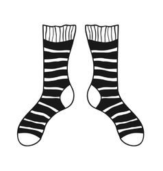 Pair of doodle socks isolated on white background vector