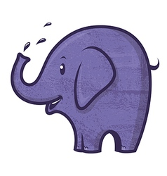 blue elephant vector image