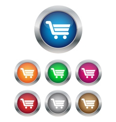 Buy now or add to cart buttons vector image