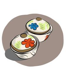 Ceramic sauce dish vector
