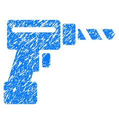 Drill grunge icon vector