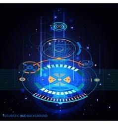 Futuristic hud background vector