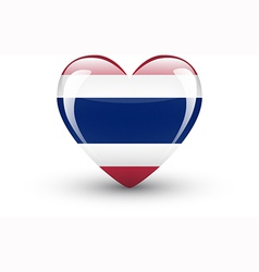 Heart-shaped icon with national flag of Thailand vector image