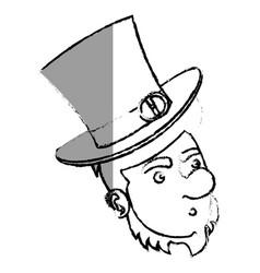 Irish elf character comic vector