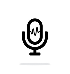 Microphone signal icon on white background vector image vector image