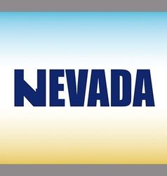 Nevada state graphic vector image vector image