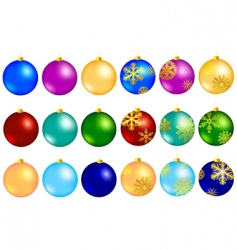 new year balls vector image vector image