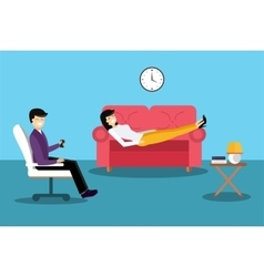 Psychologist office cabinet room vector