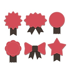 Ribbon badge vector