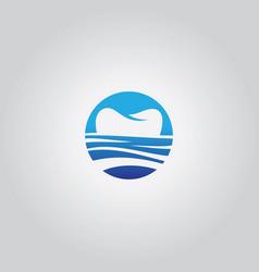 Sea tooth logo vector