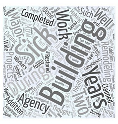 sick building syndrome Word Cloud Concept vector image